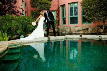 Bride and Groom at Malibu Estate for Weddings